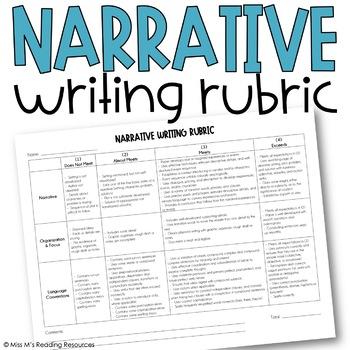 Narrative Writing Rubric, Upper & Middle Grades