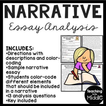 Narrative Writing Sample for Analysis- color coding- on bu