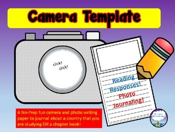 Narrative Writing Template Photo Journal Camera and Paper