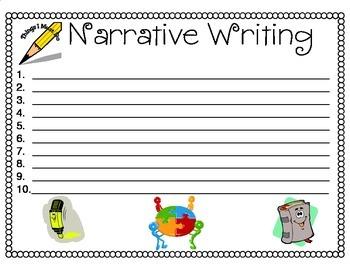 Narrative Writing Top Ten