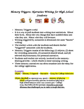 Narrative Writing for High School: Memory Triggers
