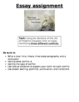 Narrative of the Life of Frederick Douglass Essay/Assessment Task
