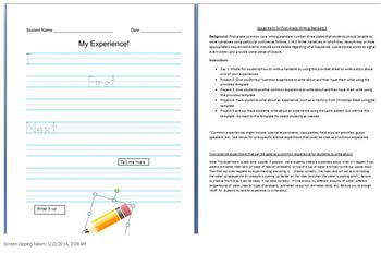 First Grade Common Core Science: Writing Standard 3 Narratives
