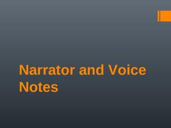 Narrator Notes