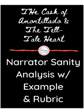 "Narrator Sanity Literary Analysis- ""Cask"" and ""Tell-Tale Heart"""