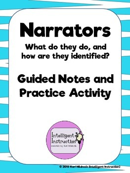 Narrators: Guided Notes on Basic Types and Identification