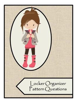 Nasco Locker Organizer Pattern Direction Questions