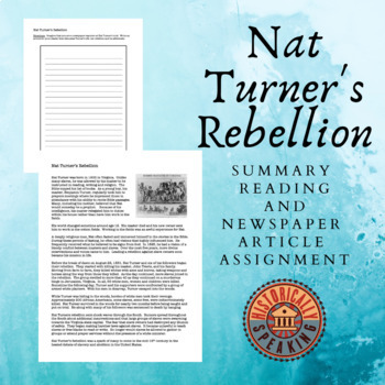 Nat Turner's Rebellion - Write a Newspaper Article!