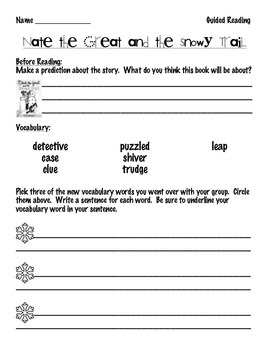 Nate the Great Reading Comprehension Packet