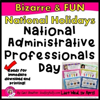 National Administrative Professionals' Day (April 26, 2017)