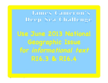 National Geographic Article: working with informational te
