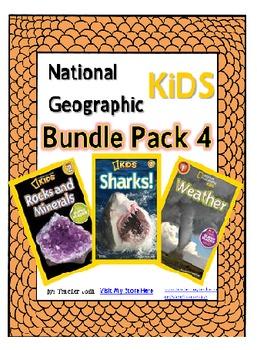 National Geographic Kids Bundle Pack 4 {Sharks, Weather, R