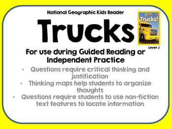National Geographic Kids Trucks Reader GRL J