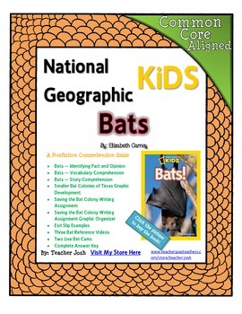 National Geographic Kids Bats {Nonfiction Comprehension Guide}