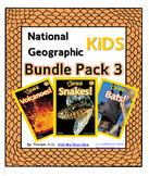 National Geographic Kids Bundle Pack 3  {Volcanoes, Snakes, Bats}