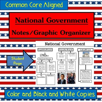National Government 3 Branches Graphic Organizer