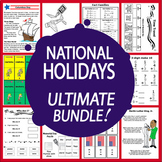 National Holidays Math and Literacy MEGA Bundle