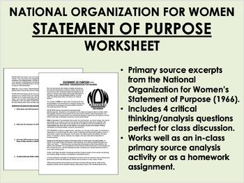 """Statement of Purpose"" - National Organization for Women -"
