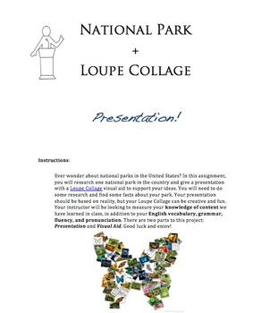 National Park Presentation with Loupe Collage Visual Aid