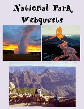 National Parks Webquest Bundle-Explore Erosion, Volcanoes,