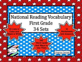 National Reading Vocabulary for First Grade:  Practice Kit
