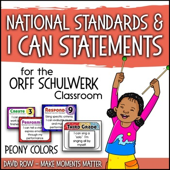 National Standards and I Can Statements - Peony Color Scheme