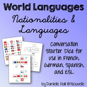 Nationalities, Languages in French, German, Spanish - Conv