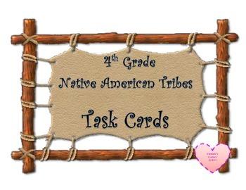 Native America Tribes Task Cards 4th Grade