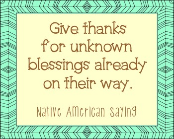 Native American Blessings Quote Poster