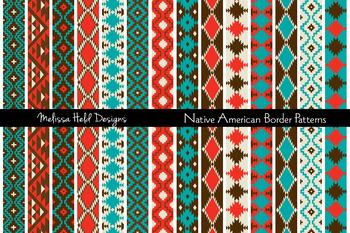 Clipart: Native  American Border Patterns Clip Art