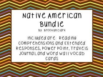 Native American Bundle - Powerpoint, Vocab, Comprehension,