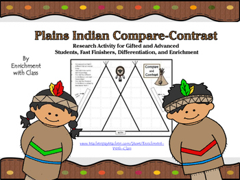 Plains Indian Compare/Contrast Activity for Gifted Student