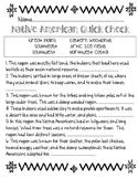 Native American Cultural Region Quick Check