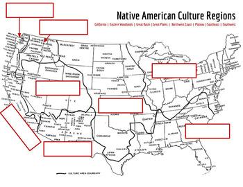 Native American Cultural Regions Map Activity