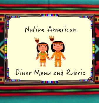 Native American Diner Menu with Rubric