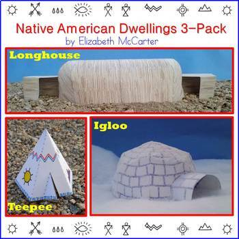 Native American Studies Craft: Dwellings 3-Pack (Pack #1)