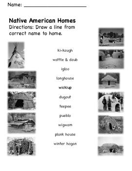 Native American Homes Matching