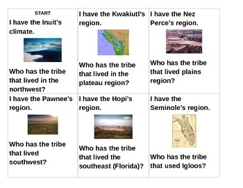 """Native American """"I Have, Who Has"""""""