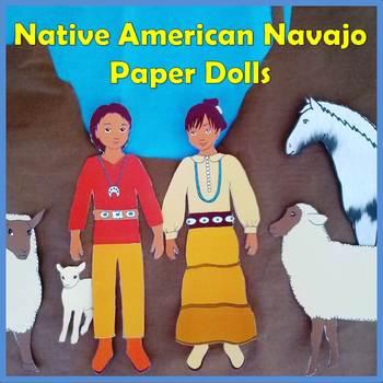 Native American Studies Craft: Navajo Boy and Girl Paper Dolls