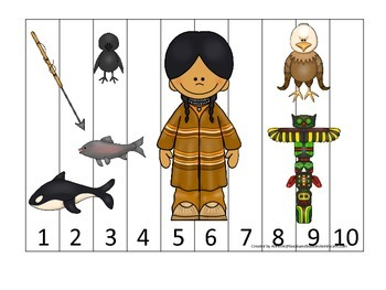 Native American North West Coast Indians themed Number Seq