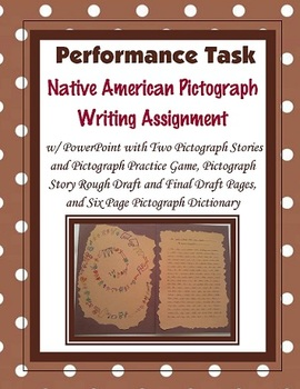Native American Pictograph Writing Activity and (PowerPoint)
