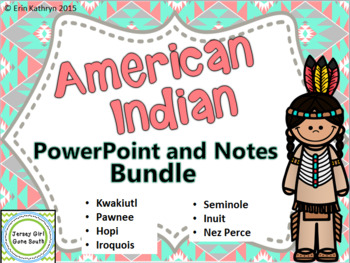 Native American PowerPoint and Notes Bundle - Inuit, Nez P
