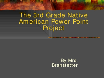 Native American PowerPoint Introduction