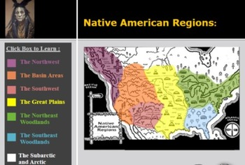 Native American Regions (for teaching & student group work