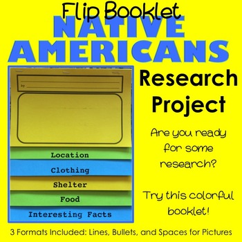 Native American Research Flip Booklet