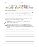 Native American Research Graphic Organizer