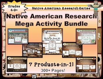 Native American Research Mega Activity Bundle