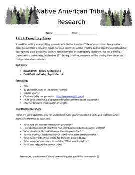Native American Research Paper with Presentation - Exposit
