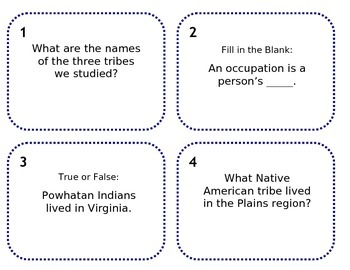 Native American Scoot Review Game