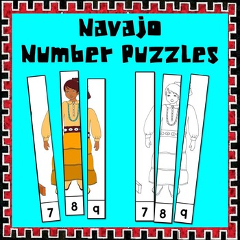 Navajo Friends Number Puzzle - A Native American Math Center